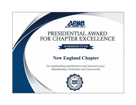 NEAPWA Presidential Award for Chapter Excellence (PACE)