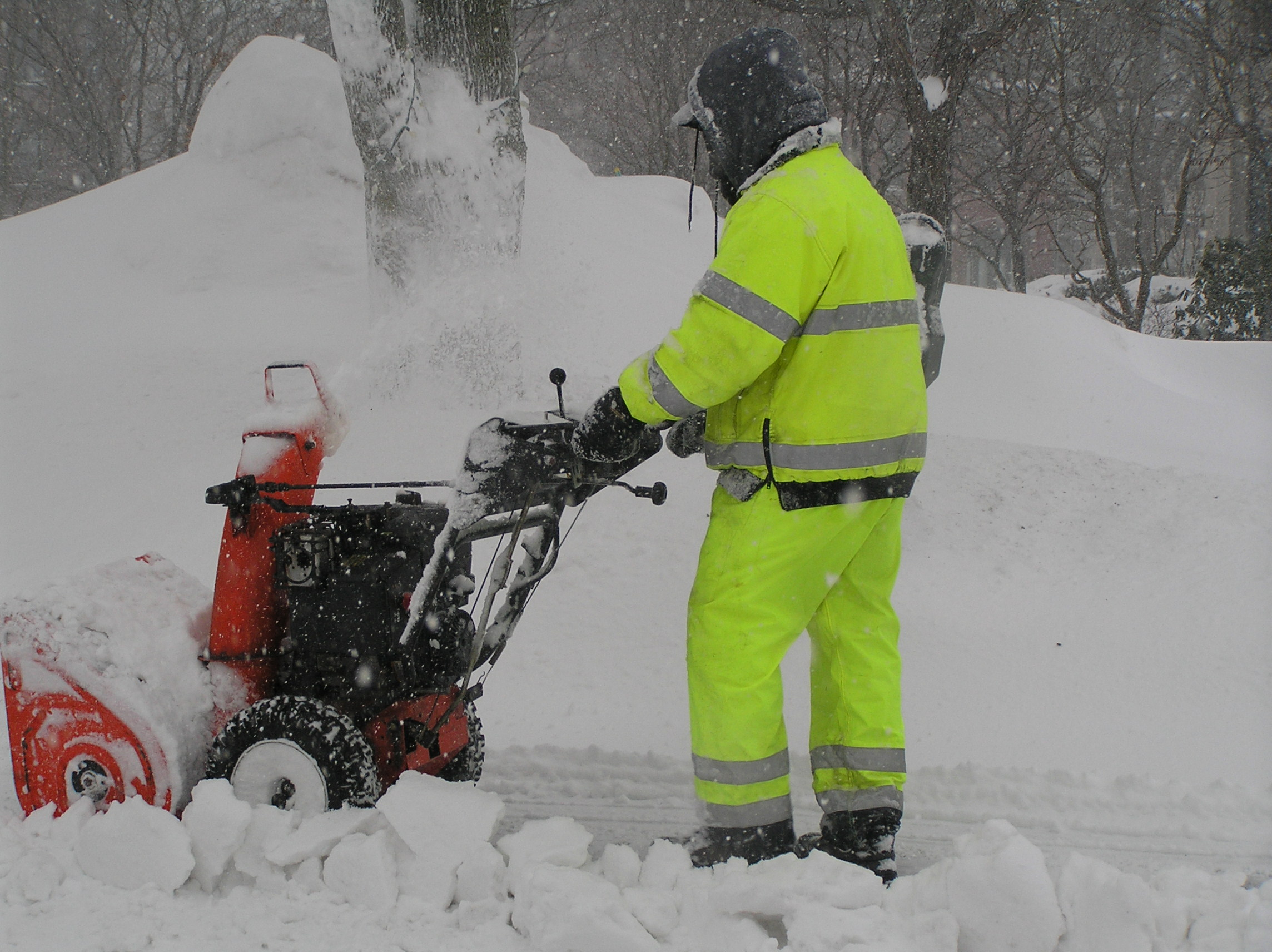 DPW Employees fight the storm